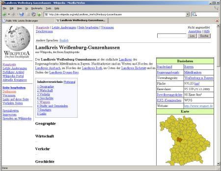 Wikipedia Design im Jahr des Wikipedia Durchbruchs 2005