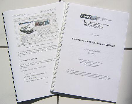 Beispielanwendung: Produktdokumentationen, Diplomarbeiten