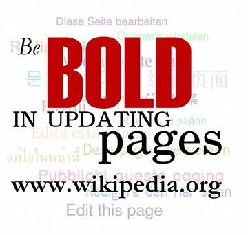 Seit mutig, Seiten zu verändern. (zu engl. Be Bold - Gegenteil von Schüchternheit)